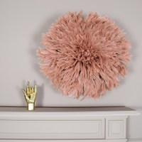 Feather Juju Hat Wall Dcor | Dusty Peach | Audenza