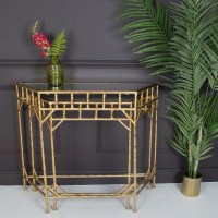Gold Console Tables (set of 2)