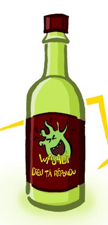 bouteille de wasabi ...