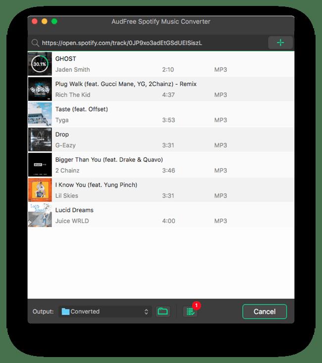 AudFree Spotify Music Converter 1.2.1 破解版 - 强大的音乐转换器