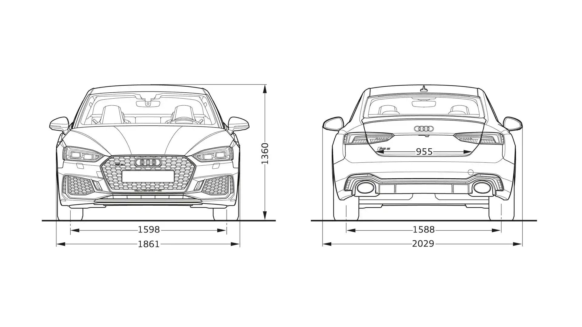 Audi RS5 dimensions > Audi RS5 2019 > Audi A5 2019 > Audi