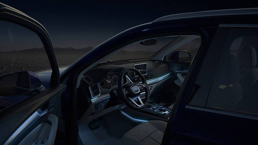 medium resolution of in darkness the optional ambient lighting package sets accents in 30 different individually selectable audi