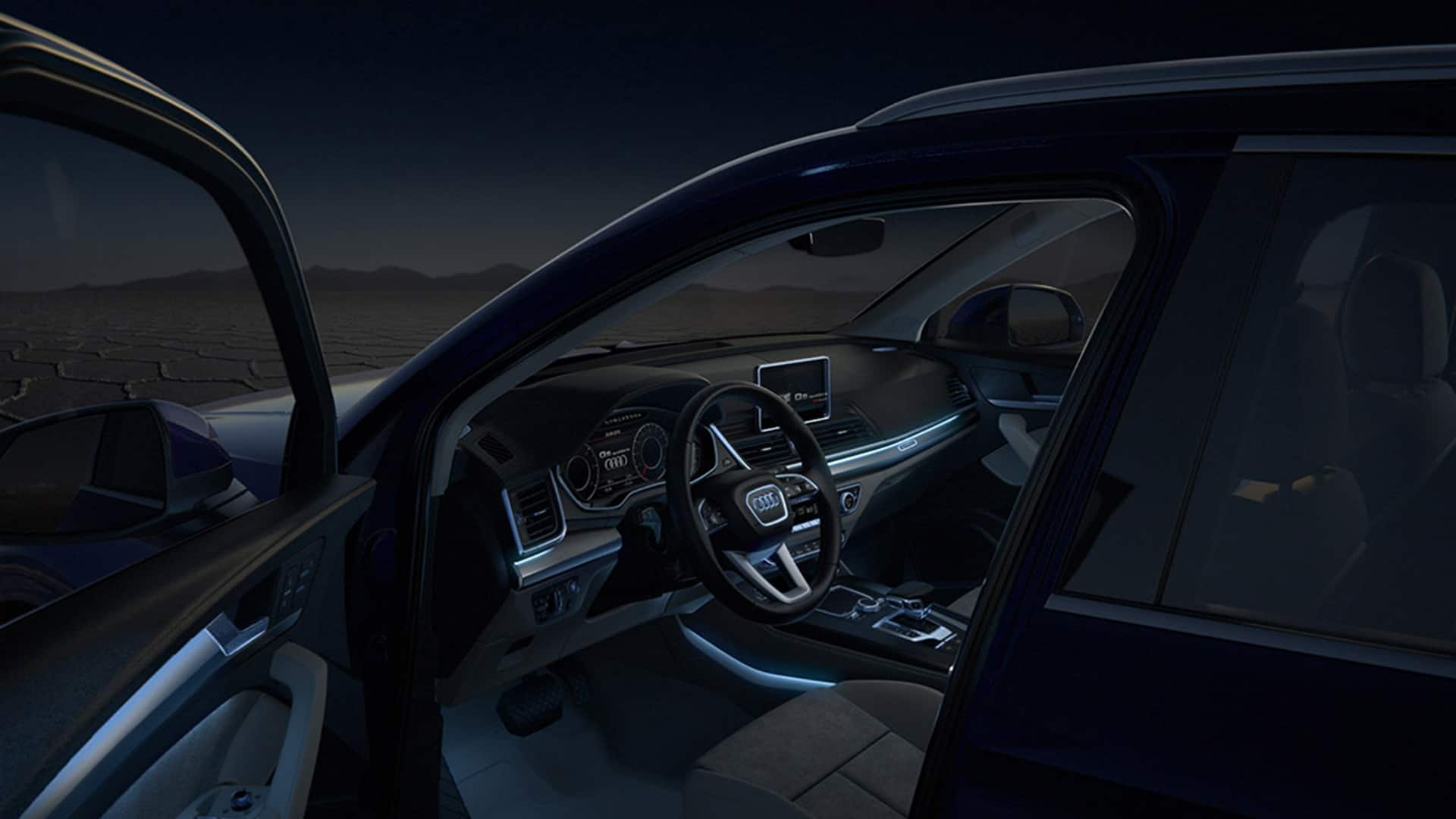 hight resolution of in darkness the optional ambient lighting package sets accents in 30 different individually selectable audi
