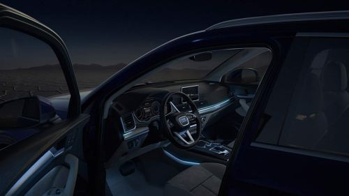 small resolution of in darkness the optional ambient lighting package sets accents in 30 different individually selectable audi