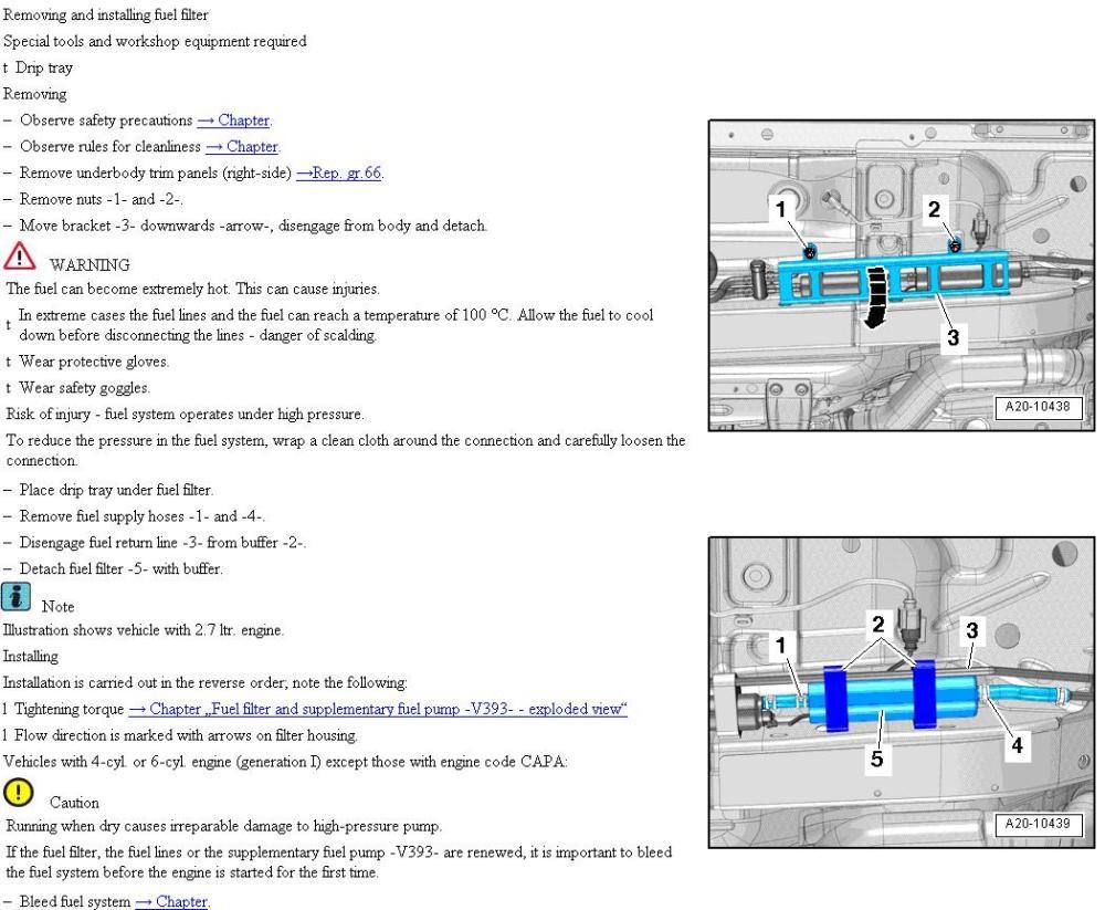 medium resolution of fuel filter replacement b8 jpg