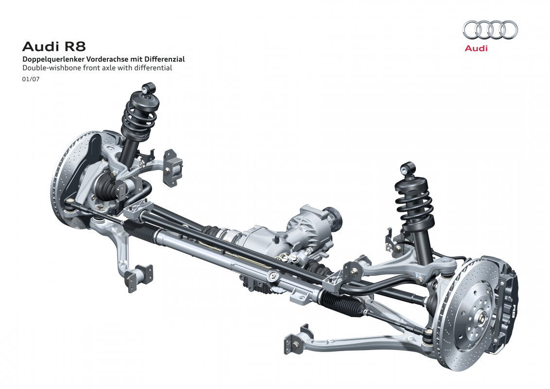 hight resolution of high precision double wishbone front suspension in the audi r8