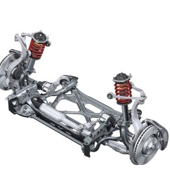 complex layout five link front suspension in most of the larger model lines like [ 1067 x 800 Pixel ]