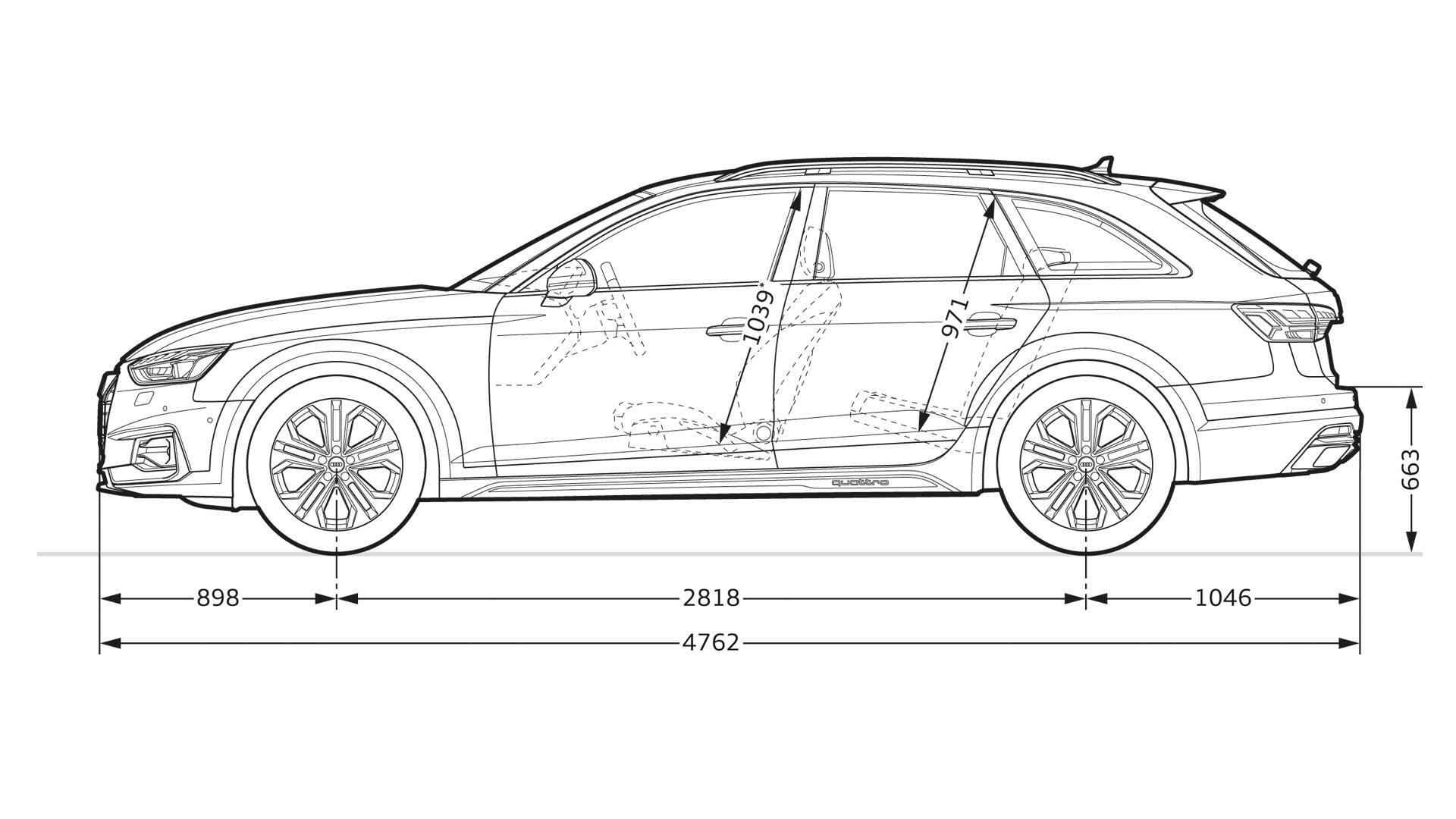 Layer: Dimensions > 2020 A4 allroad > A4 > Audi Canada