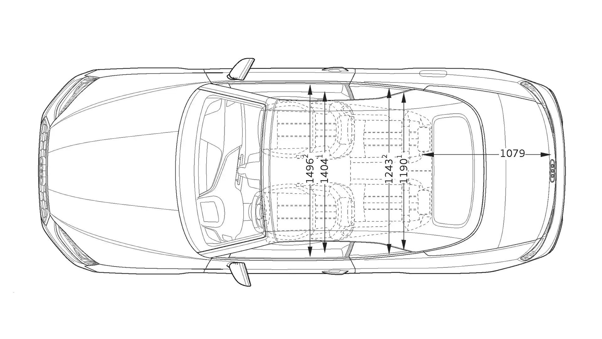 Layer: Dimensions > 2020 A5 Cabriolet > A5 > Audi Canada