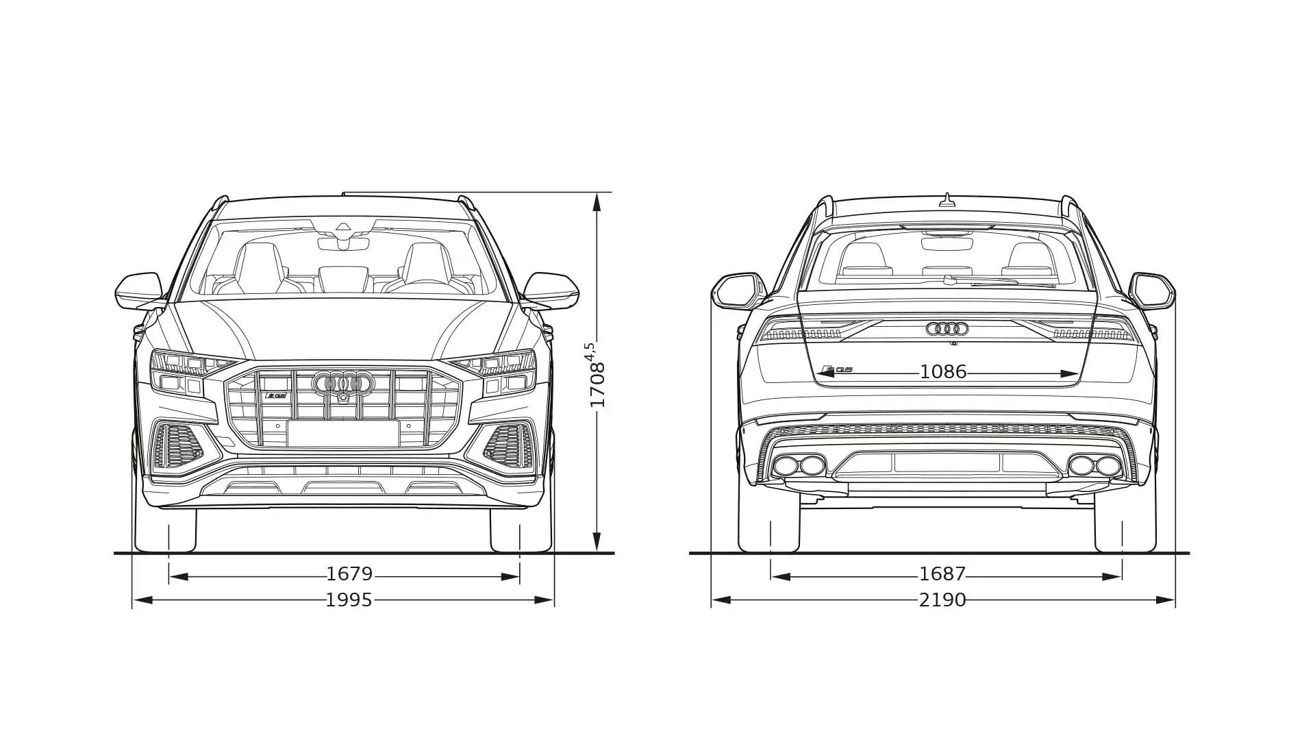 Layer: Dimensions > 2021 SQ8 > Q8 > Audi Canada
