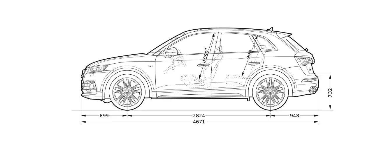 Dimension Audi Q2