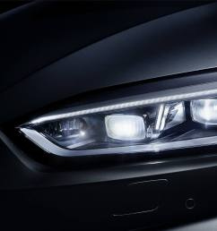 the optional audi matrix led headlights feature highly adaptive light distribution and an attractive design with high recognition value  [ 1920 x 1080 Pixel ]