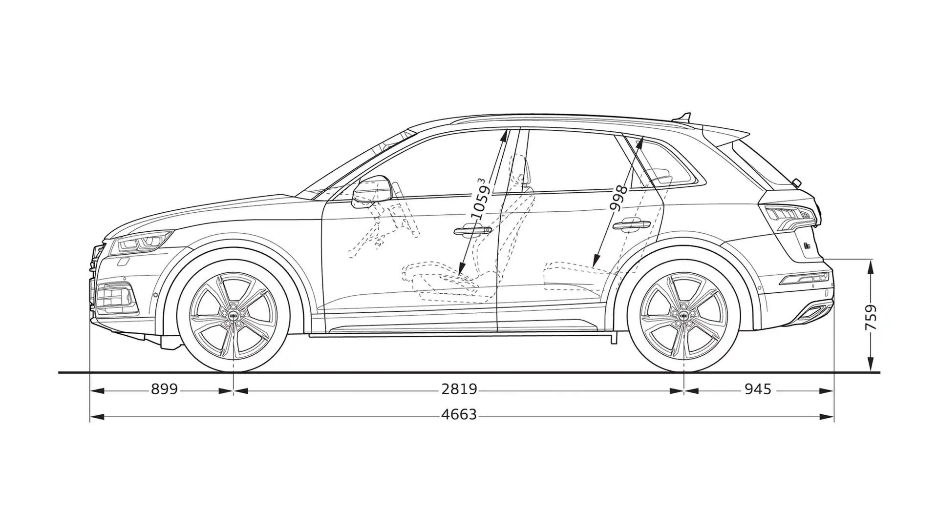 Layer Dimension Gt Sq5 Tfsi Gt Q5 Gt Audi Deutschland