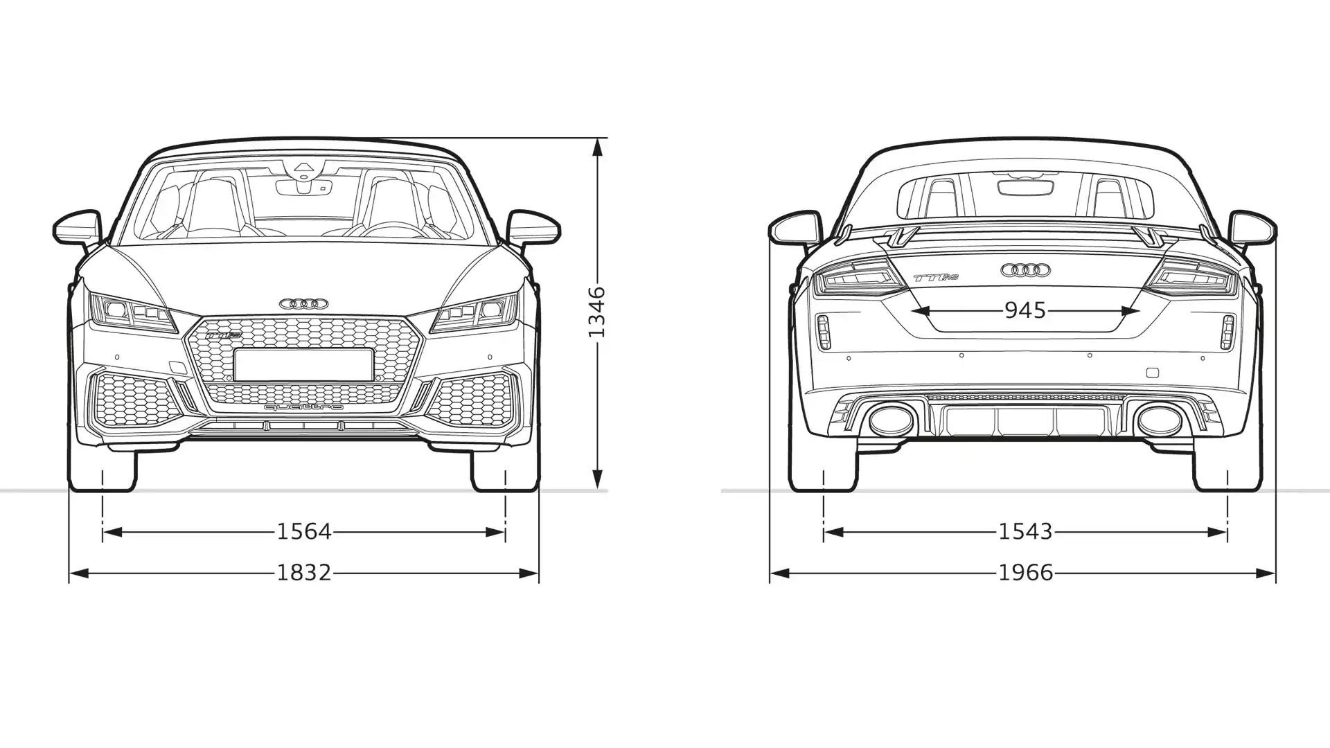 Dimensioni > TT RS Roadster > Gamma Audi TT > Audi Italia