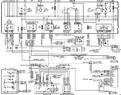 Audi 80 Klub Polska [B4 1.9 1Z] schemat elektryczny