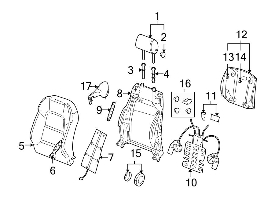 Audi A3 Seat Adjustment Knob. POWER SEAT, DRIVER SIDE