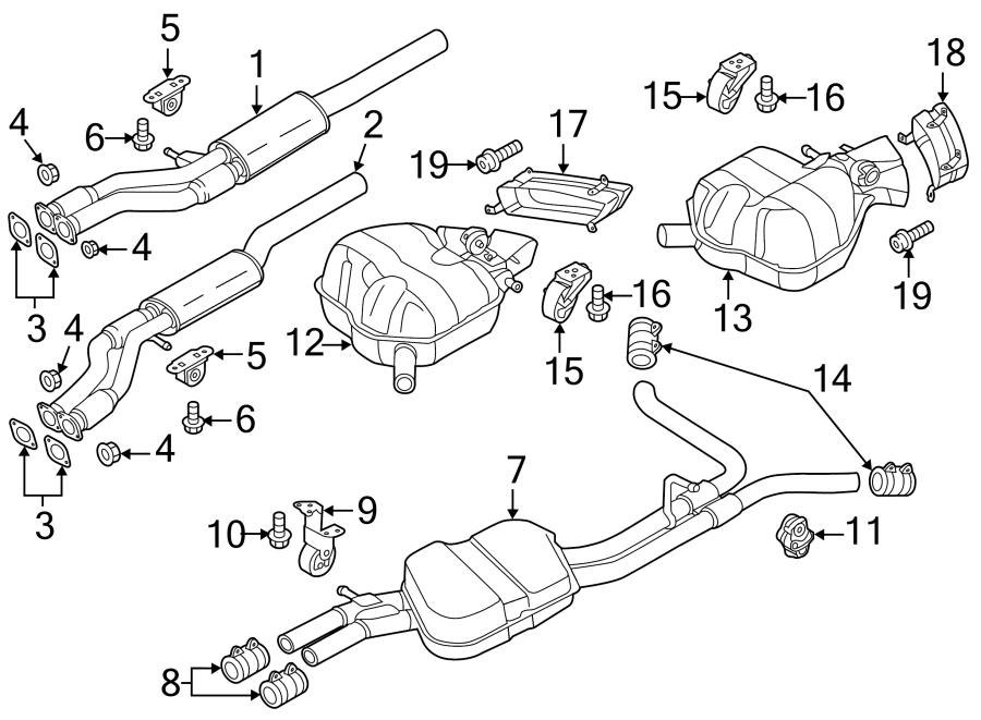 Audi A8 Bracket. Exhaust. Hanger. (Front). Muffler