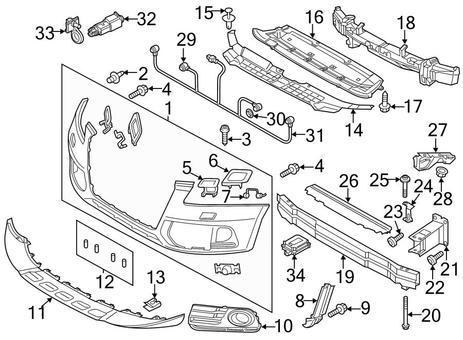 2016 Audi Q5 Sensor. Park. ELECTRCAL, COMPONANTS