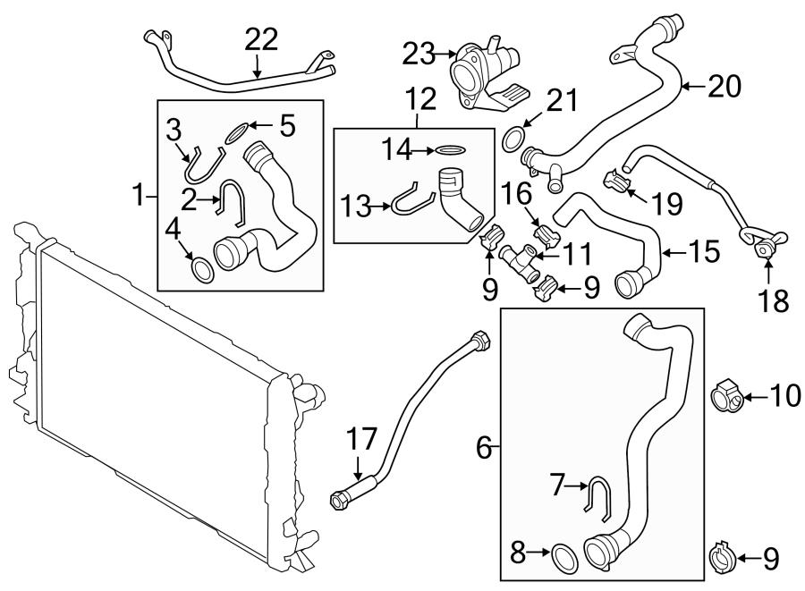 Audi Q5 Engine Coolant Overflow Hose. 2.0 LITER, GAS