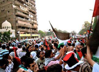 """Free Palestine Kundgebung in Kairo"" Foto von Gigi Ibrahim. Licensed under Creative Commons Attribution 2.0 via Wikimedia Commons."