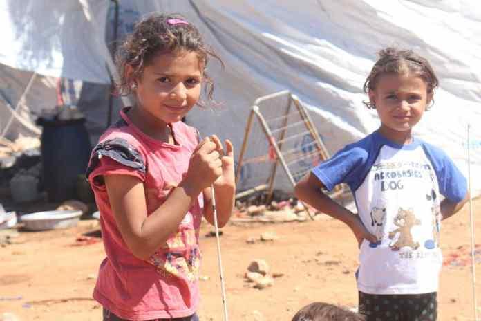 Flüchtlingskinder im westlichen Teil der Stadt Aleppo, Syrien. Foto UNICEF / Ourfali