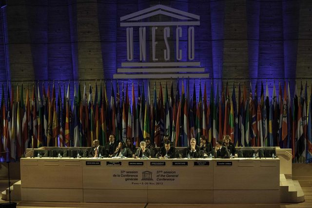 Die 37. Generalversammlung der UNESCO im Jahr 2013, Foto Cancillería Ecuador, CC BY-SA 2.0, Wikimedia Commons.
