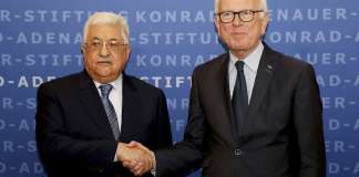 Mahmud Abbas und Dr. Hans-Gert Pöttering. Foto Konrad-Adenauer-Stiftung