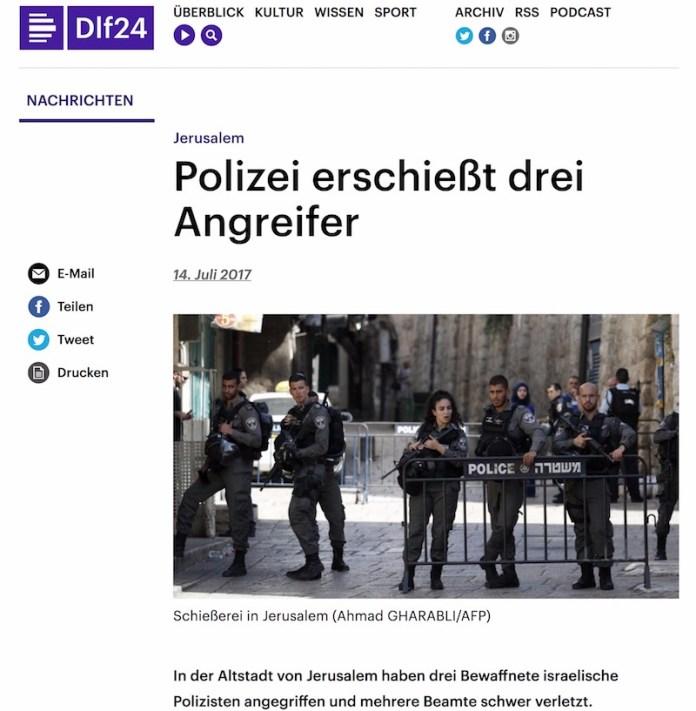 Foto Screenshot Deutschlandfunk.de, 14. Juli 2017