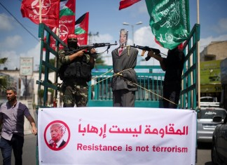 Demonstrationen gegen US-Präsident Trump. Foto Quds News Network / PFLP