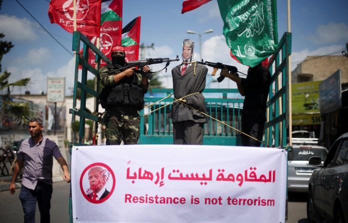 Demonstrationen gegen US-Präsident Trump. Foto Quds News Network / PFLP