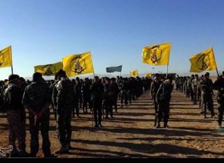 Fatemijun - schiitische Milizen aus Afghanistan. Foto Tasnim News Agency, CC BY 4.0, https://commons.wikimedia.org/w/index.php?curid=54158774