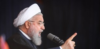 Der iranische President Hassan Rouhani. Foto Amir Sadeghi - http://media.farsnews.com/media/Uploaded/Files/Images/1397/02/04/13970204000743636601782145928671_30711_PhotoT.jpg, CC BY 4.0, https://commons.wikimedia.org/w/index.php?curid=68597981