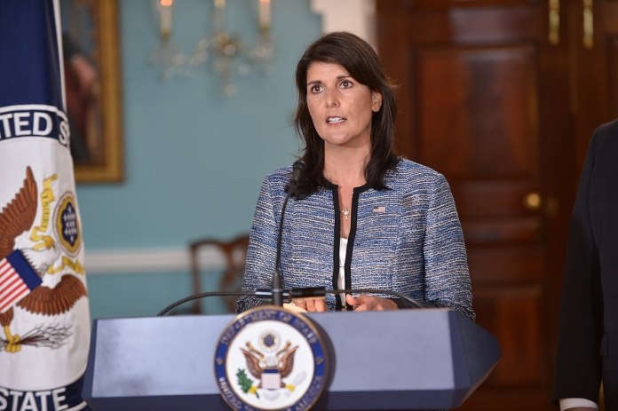 Nikki Haley, US-Botschafterin bei den Vereinten Nationen. Foto U.S. Department of State from United States. Gemeinfrei, https://commons.wikimedia.org/w/index.php?curid=70119559