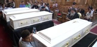 Trauerfeier für koptische Christen, die bei einem Hinterhalt getötet wurden. Foto Screenshot Youtube / Euronews
