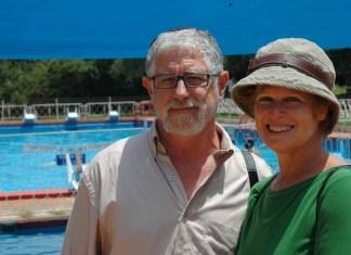 Seth und Sherri Mandell im Camp Koby. Foto Dena Wimpfheimer/Times of Israel