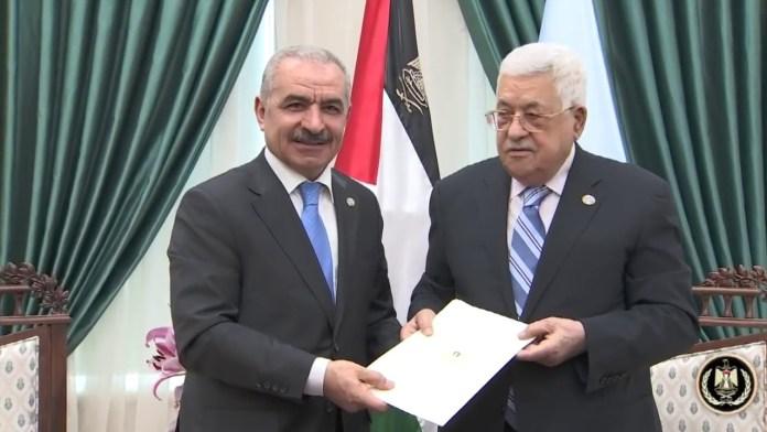 Muhammad Shtayyeh und Mahmoud Abba. Foto Screenshot Youtube / الرئيس محمود عباس