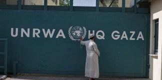 Das UNRWA Hauptquartier in Gaza. Foto Wissam Nassar/FLASH90
