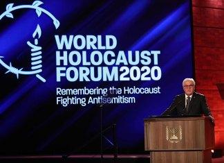 Bundespräsident Frank-Walter Steinmeier bei seiner Rede in der Holocaust-Gedenkstätte Yad Vashem. Foto Yad Vashem