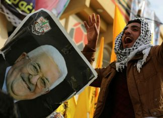 Kundgebung anlässlich des 55. Jahrestags der Gründung der Fatah am 1. Januar 2020. Foto Majdi Fathi/TPS