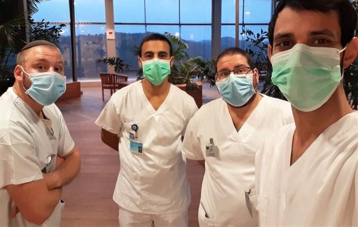 Krankenpfleger des Jerusalem College of Technology helfen die Verbreitung von COVID-19 in Altersheimen einzudämmen. Foto zVg / JNS