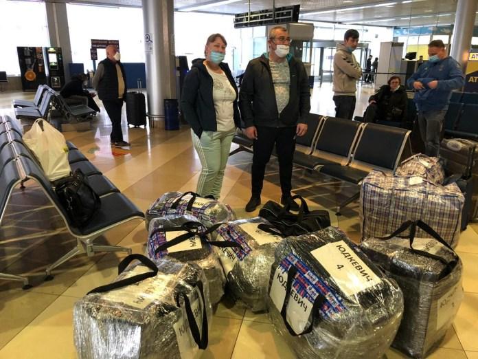 Neueinwanderer aus der Ukraine. Foto Internationale Christliche Botschaft Jerusalem ICEJ.