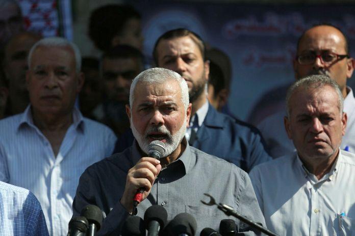 Ismail Haniyeh, Vorsitzender des Politbüros der Hamas. Foto Majdi Fathi/TPS