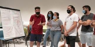 Israelis und Palästinenser an einer Tech2Peace-Veranstaltung in Yerucham im August 2020. Foto Micha Silverman - Tech2Peace
