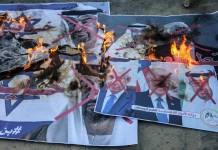 Palästinenser in der Stadt Deir al-Balah im Zentrum des Gaza-Streifens nehmen am Protest gegen das Abkommen zwischen den VAE und Israel teil. Foto imago images / ZUMA Wire