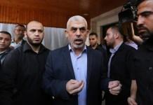 Der Führer der Hamas im Gaza-Streifen, Yahya Sinwar am 28. Oktober 2019. Foto Majdi Fathi/TPS