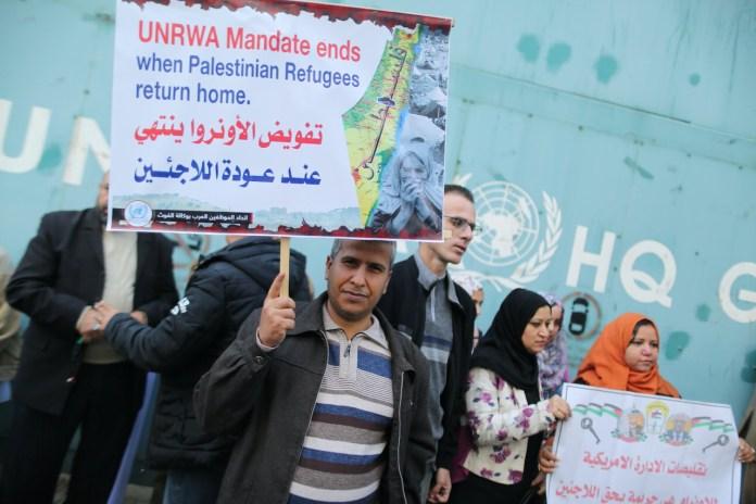 Kundgebung in Gaza-Stadt im November 2019. Foto Majdi Fathi/TPS