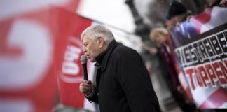 Udo Voigt, NPD-Kundgebung in Berlin am 03.02.2018. Foto imago images / IPON