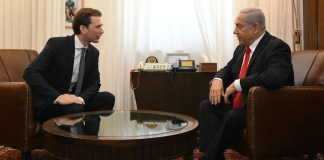 Sebastian Kurz bei einem Treffen mit dem israelischen Ministerpräsidenten Benjamin Netanjahu am 10. Juli 2019 in Jerusalem. Foto Kobi Gideon/GPO