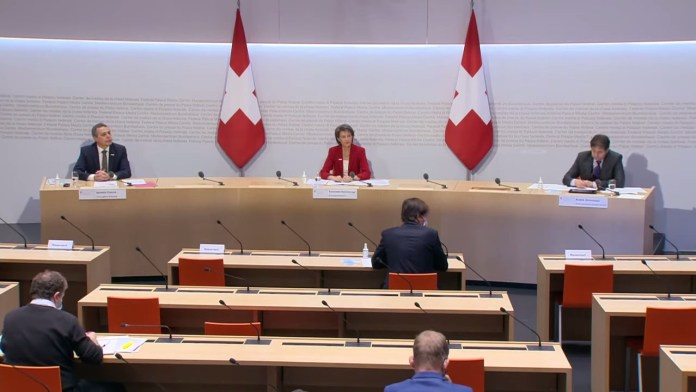 BP Sommarunga, BR Cassis zu Kandidatur UNO-Sicherheitsrat. Foto Screenshot Youtube /