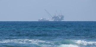 Leviathan Erdgasaufbereitungsanlage an der Küste Israels. Foto Amir Ben David , CC BY-SA 4.0, https://commons.wikimedia.org/w/index.php?curid=86431120